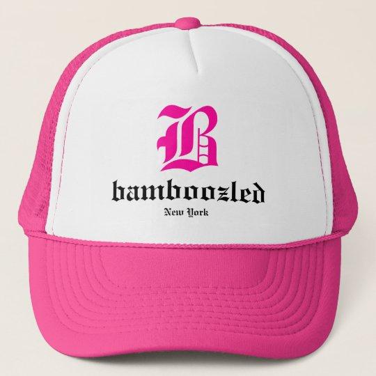 Bamboozled Womens Trucker Hat- White /Pink Cap