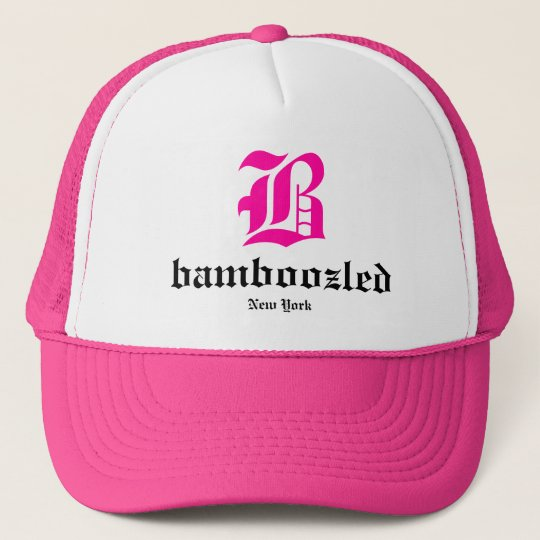 Bamboozled Womens Trucker Hat- White /Pink Trucker Hat