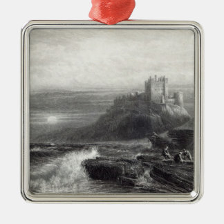 Bamborough Castle, engraved by S. Bradshaw Christmas Ornament