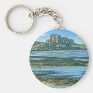 Bamburgh Castle Basic Round Button Key Ring