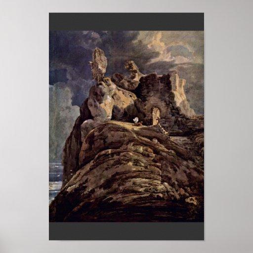 Bamburgh Castle Northumberland By Thomas Girtin (B Poster