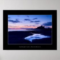 Bamburgh Castle - Northumberland  -  poster
