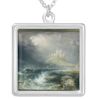 Bamburgh Castle, Northumberland Silver Plated Necklace
