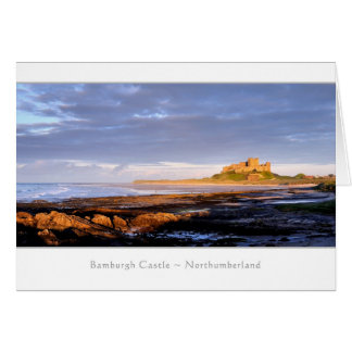 Bamburgh Castle panorama, Northumberland Greeting Card