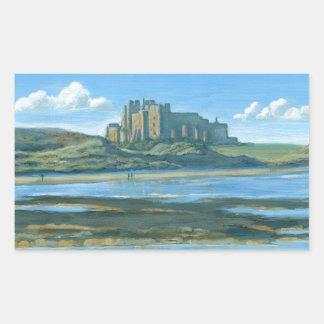 Bamburgh Castle Rectangular Sticker
