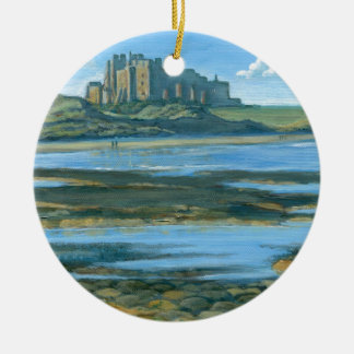 Bamburgh Castle Round Ceramic Decoration