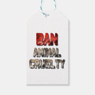 Ban Animal Cruelty Gift Tags