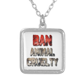 Ban Animal Cruelty Silver Plated Necklace