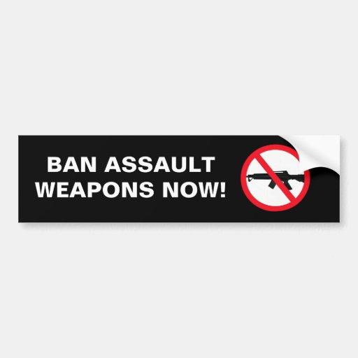Shooting Ban Colorado: Ban Assault Weapons Bumper Sticker
