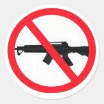 Ban Assault Weapons Round Sticker