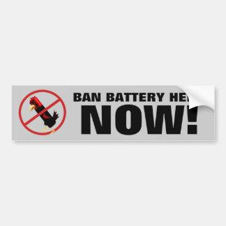 Ban battery hens bumper sticker