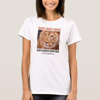 Ban Canned Hunting - Official CACH T-shirt