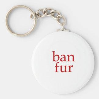 Ban Fur Basic Round Button Key Ring