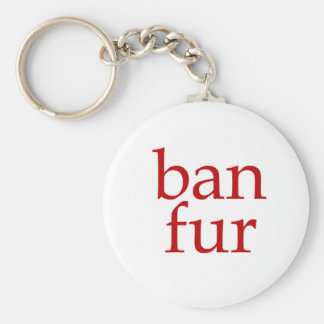Ban Fur Key Ring