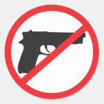 Ban Guns Anti-Gun Pacifist Round Sticker