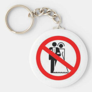 Ban Heterosexual Marriage Basic Round Button Key Ring