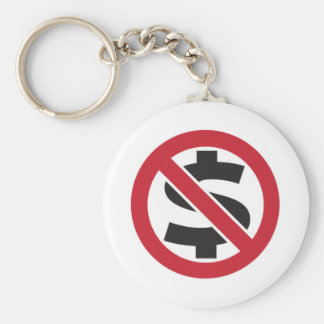 Ban money basic round button key ring