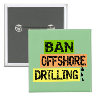 BAN OFFSHORE DRILLING 15 CM SQUARE BADGE