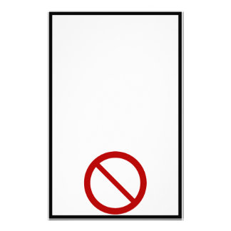 Ban or Prohibit Symbol Customized Stationery