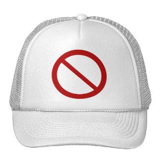 Ban or Prohibit Symbol Mesh Hats