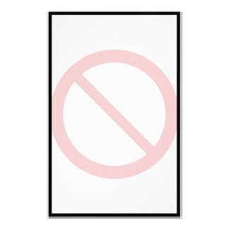 Ban or Prohibit Symbol Stationery