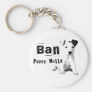 Ban Puppy Mills Animal Rights Keychain