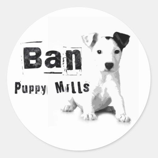 Ban Puppy Mills Animal Rights Sticker