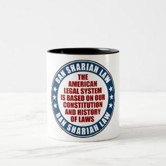 Ban Shariah Law Two-Tone Coffee Mug