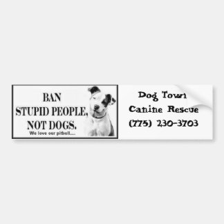 Ban Stupid People bumper sticker