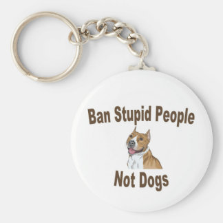 Ban Stupid People Notebook Basic Round Button Key Ring