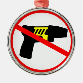 Ban tazers symbol. christmas ornament