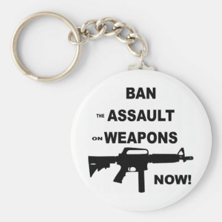 Ban (the) Assault (on) Weapons Now Keychain