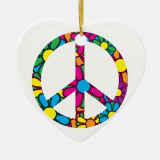 Ban The Bomb Ceramic Heart Decoration