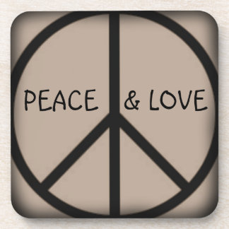 Ban the Bomb-Peace Sign/Peace and Love Drink Coasters