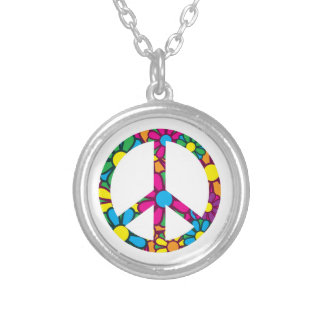 Ban The Bomb Silver Plated Necklace