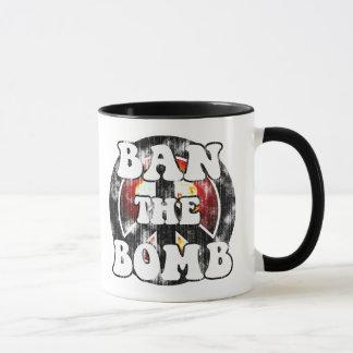 Ban The Bomb (worn look) Mug