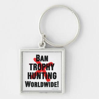 """Ban Trophy Hunting"" Keychain"