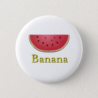 Banana 6 Cm Round Badge