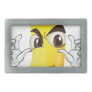 banana angry smiley belt buckles