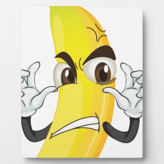 banana angry smiley photo plaque