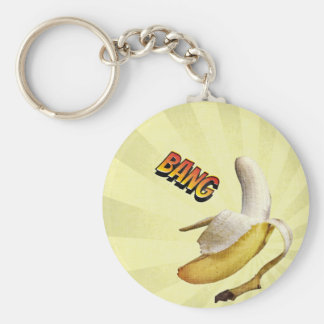Banana BANG comic pop art Keychains
