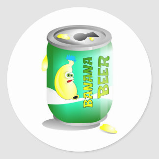Banana beer round sticker