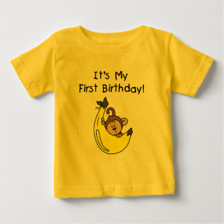 Banana - Boy Monkey 1st Birthday Baby T-Shirt