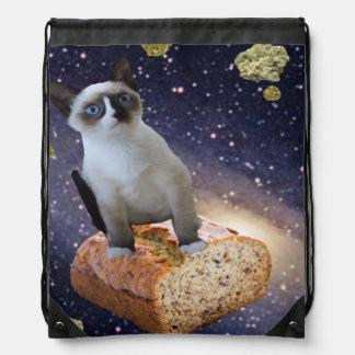 banana bread kat drawstring bag