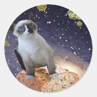 banana bread kat round sticker