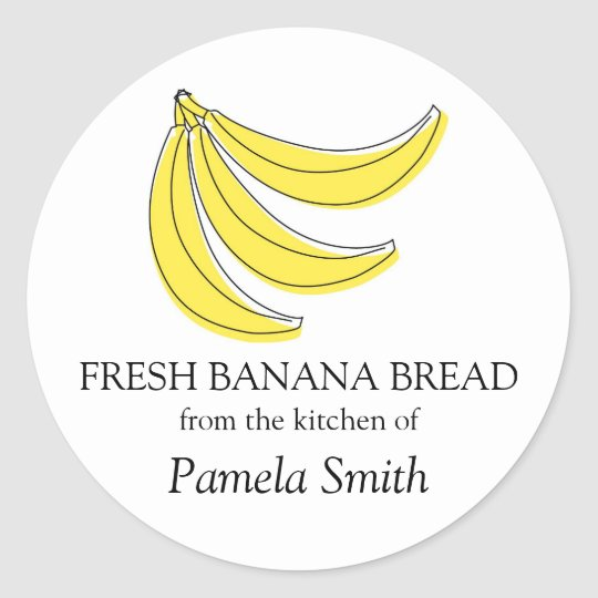 Banana Bread Labels, From the Kitchen Of Classic