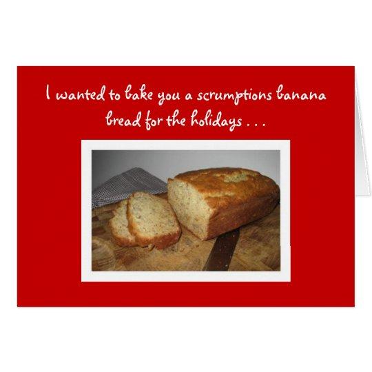 Banana Bread Recipe Holiday Card
