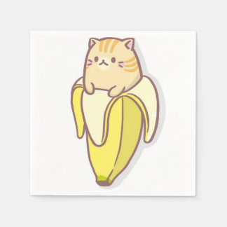 Banana cat disposable napkin