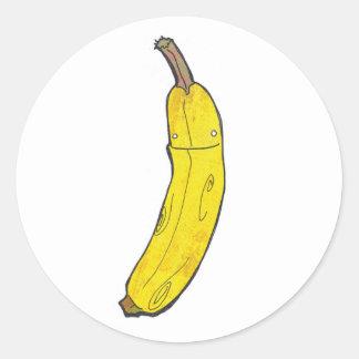 banana classic round sticker