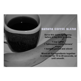 Banana Coffee Blend Card